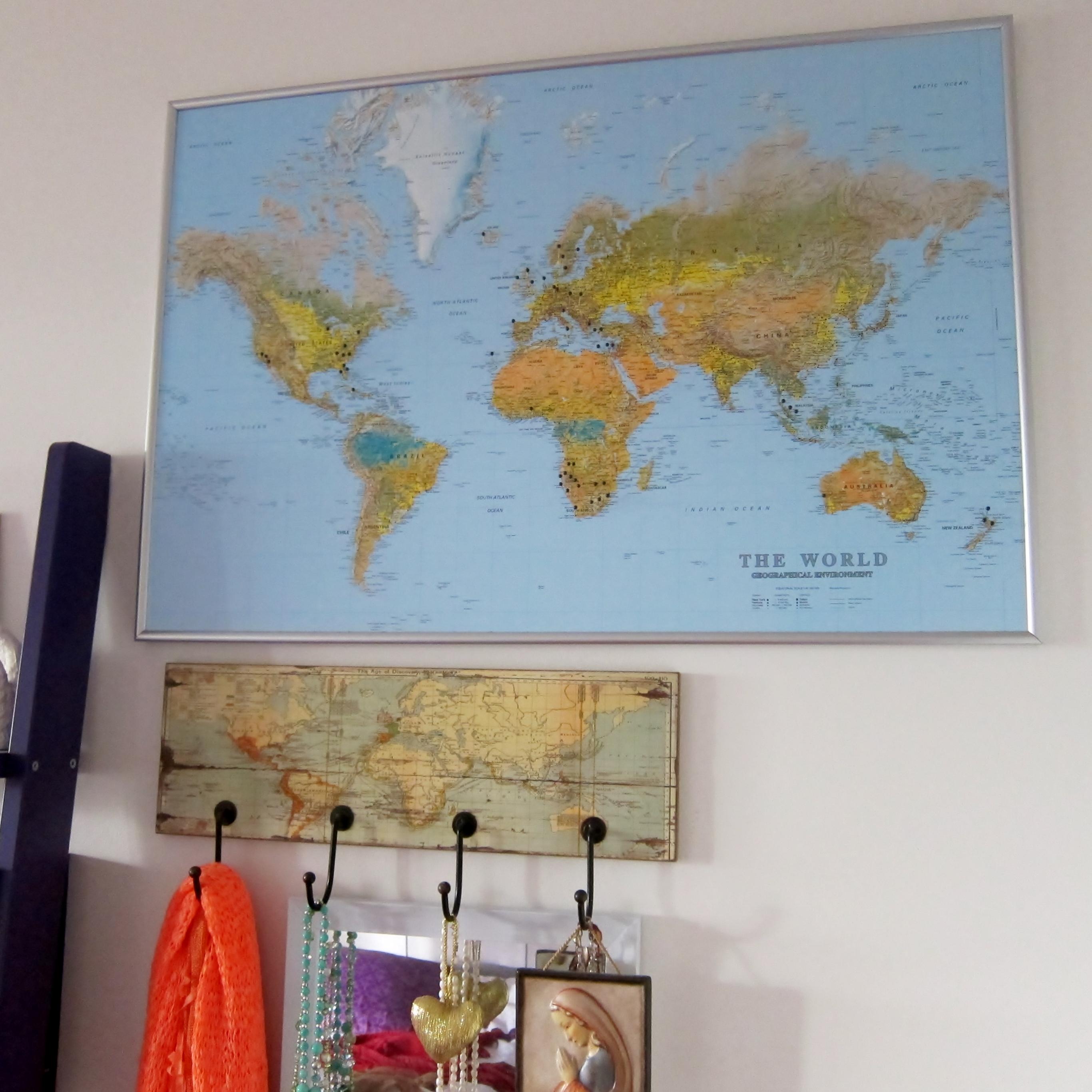 karta på väggen Stor världskarta The World   Kartkungen karta på väggen