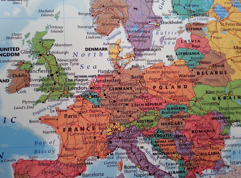 Karta Over Europa For Nalar Kartkungen Kartor For Nalmarkering