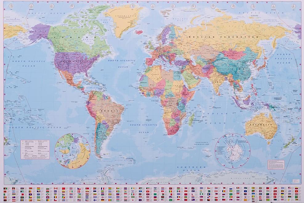 Stor V 228 Rldskarta Klassisk Kartkungen