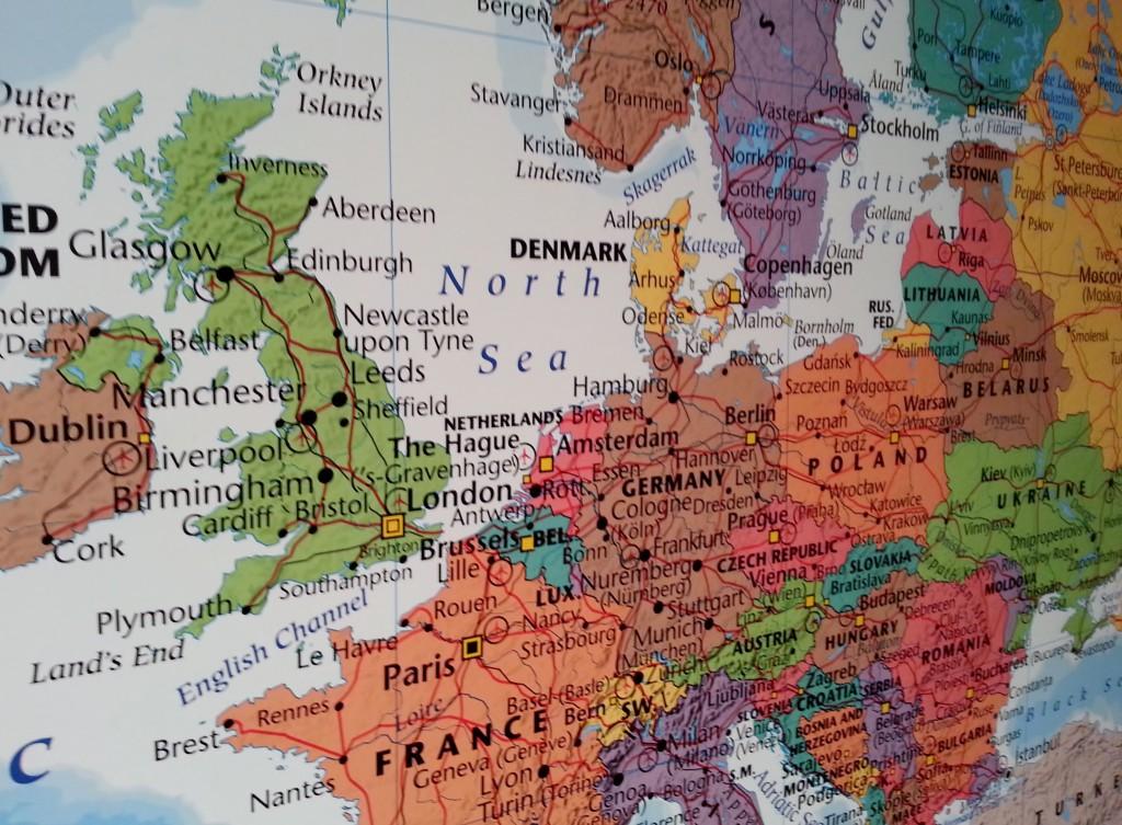Karta Sverige Frankrike.Karta Europa For Nalmarkering Frankrike Tyskland England Kartkungen