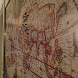 Big Th Century World Map Pinboard King - 17th century world map