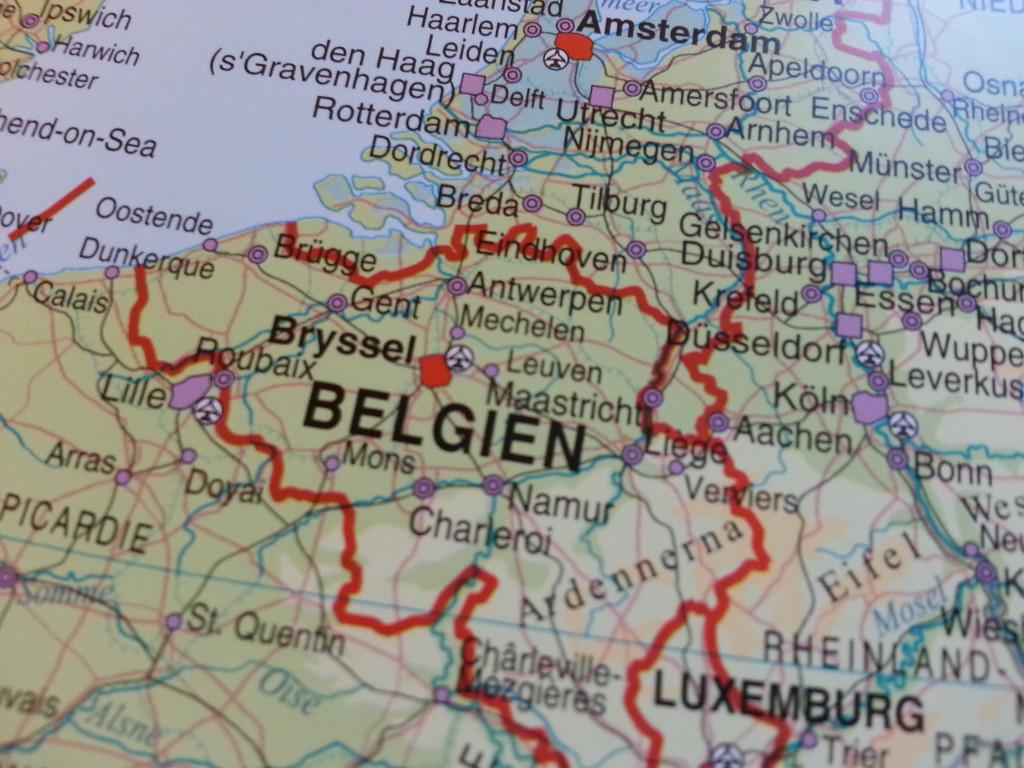belgien karta Europakarta Norstedts   Kartkungen belgien karta