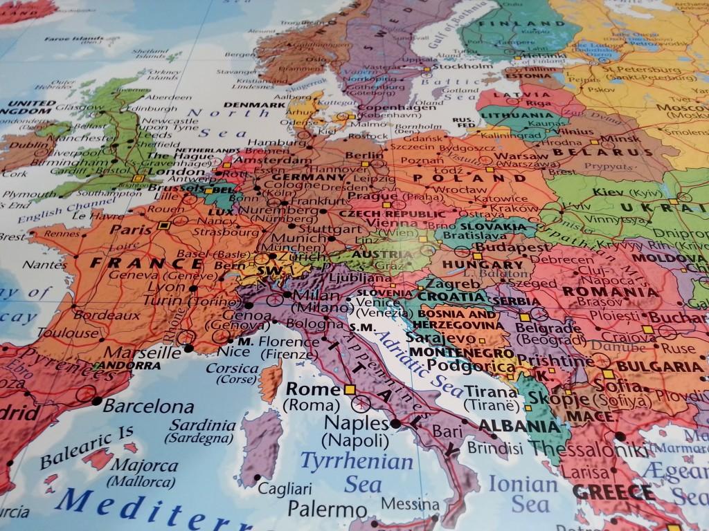 Karta Sverige Frankrike.Europakarta Colors Kartkungen