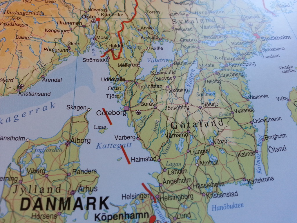sverige danmark karta Europakarta Norstedts   Kartkungen sverige danmark karta