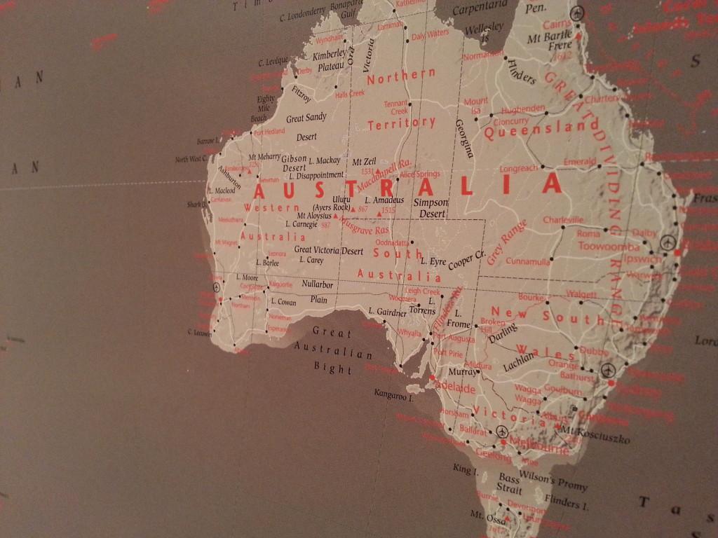 Big red grey world map pinboard king big red grey world map gumiabroncs Images