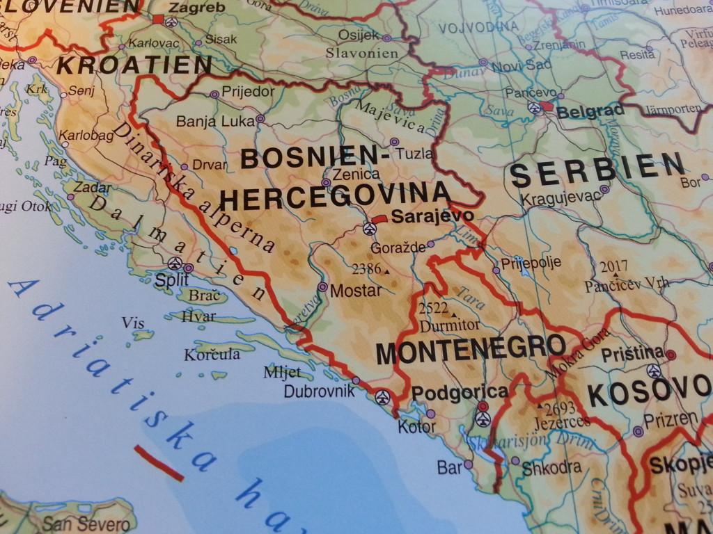 karta bosnien och hercegovina Europakarta Norstedts   Kartkungen karta bosnien och hercegovina