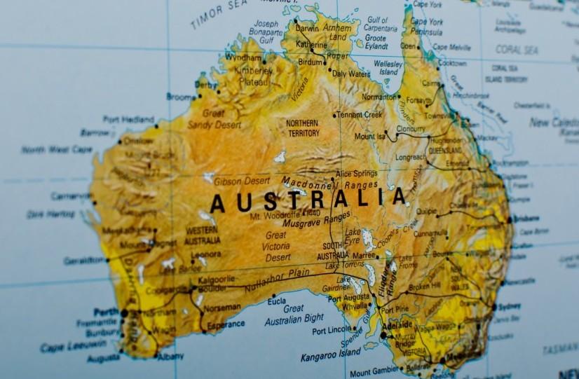 Australien Karta Lander.Stor Varldskarta The World Kartkungen