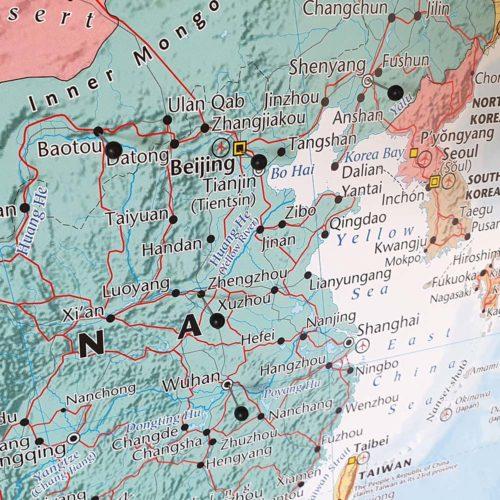 Stor väggkarta över Asien för markering med kartnålar (3)