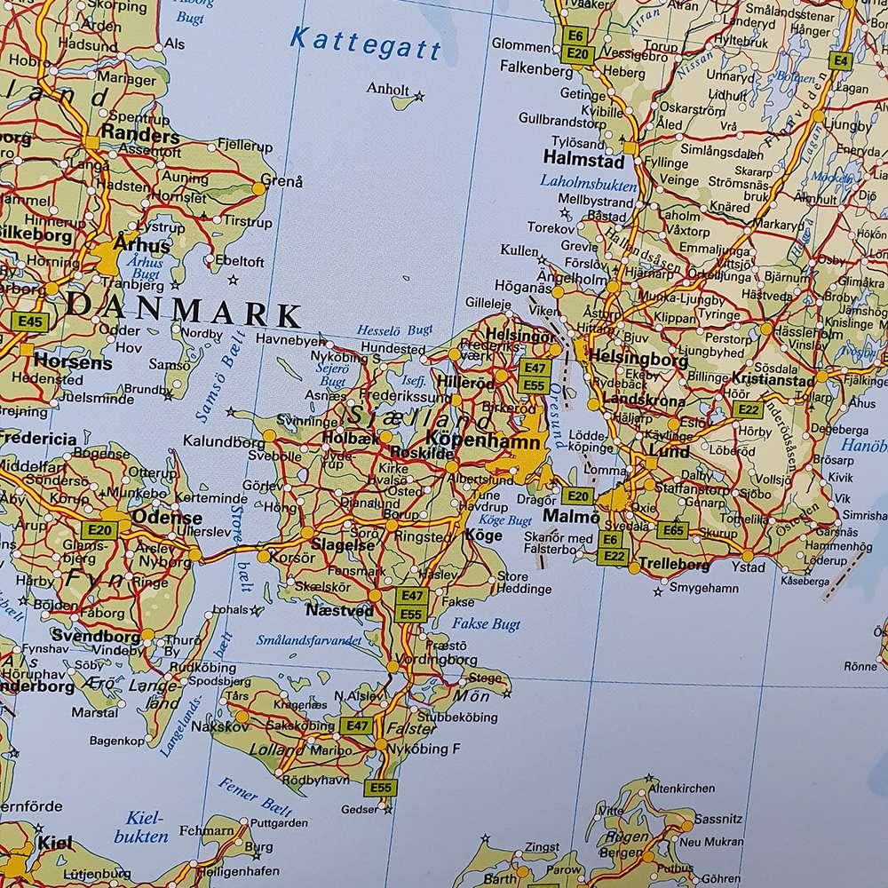 Karta Norden Och Baltikum For Nalar Kartkungen