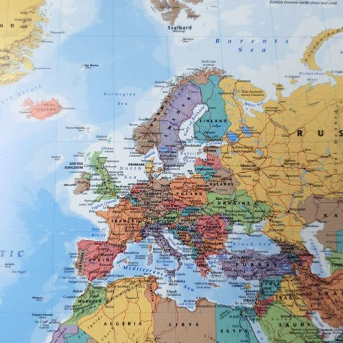 karta-vägg-klassisk-svart-ram