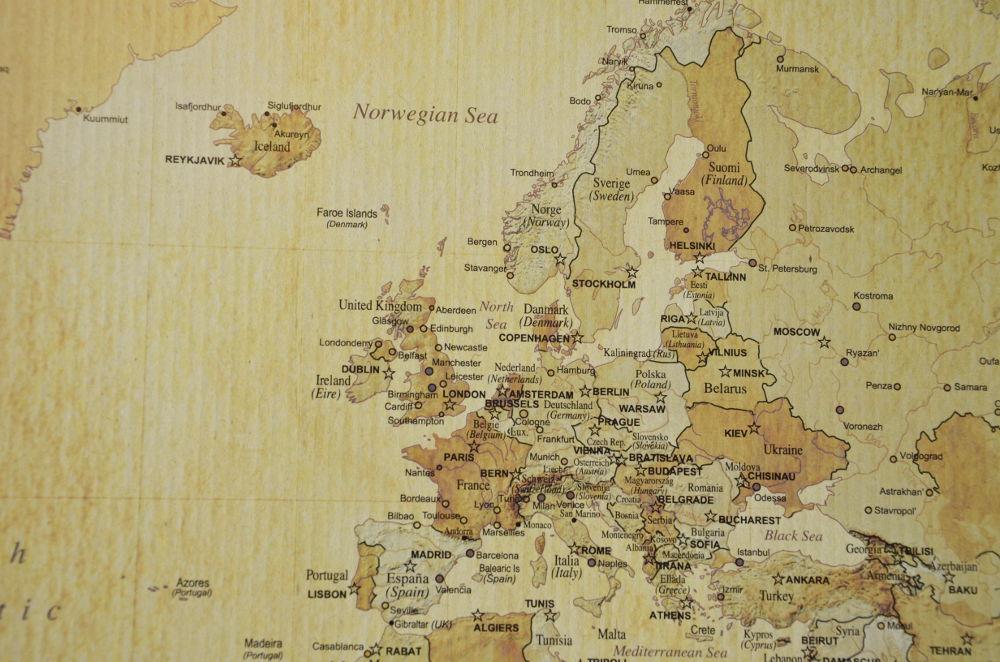 Karta Europa Portugal.Kartkungen Vintage 90 60 Karta Europa Kartkungen