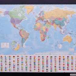 Small classic world map pinboard king small classic world map gumiabroncs Choice Image