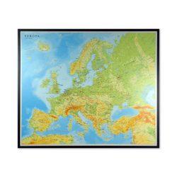 Stor karta över Europa för markering med nålar