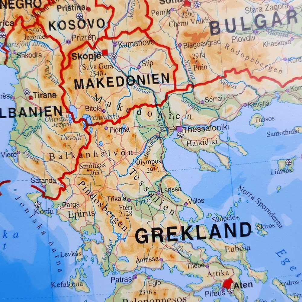 Stor Karta Over Europa For Nalar Kartkungen Kartor For Nalmarkering