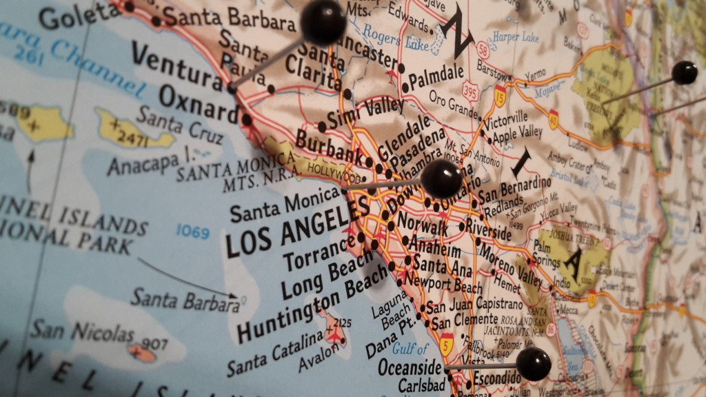 Karta nålar USA The United States National Geographic Kartkungen