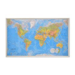 Världskarta för markering med nålar 136x84 cm