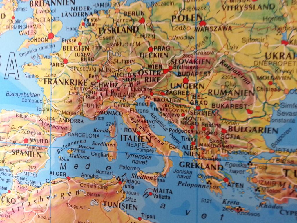 Karta Varlden Europa.Varldskarta Norstedts Varlden For Nalmarkering Kartkungen Europa