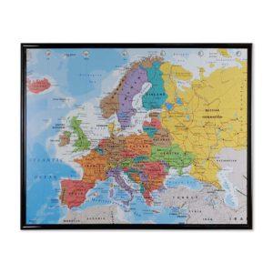 väggkarta-europa-för-nålmarkering-svart-ram