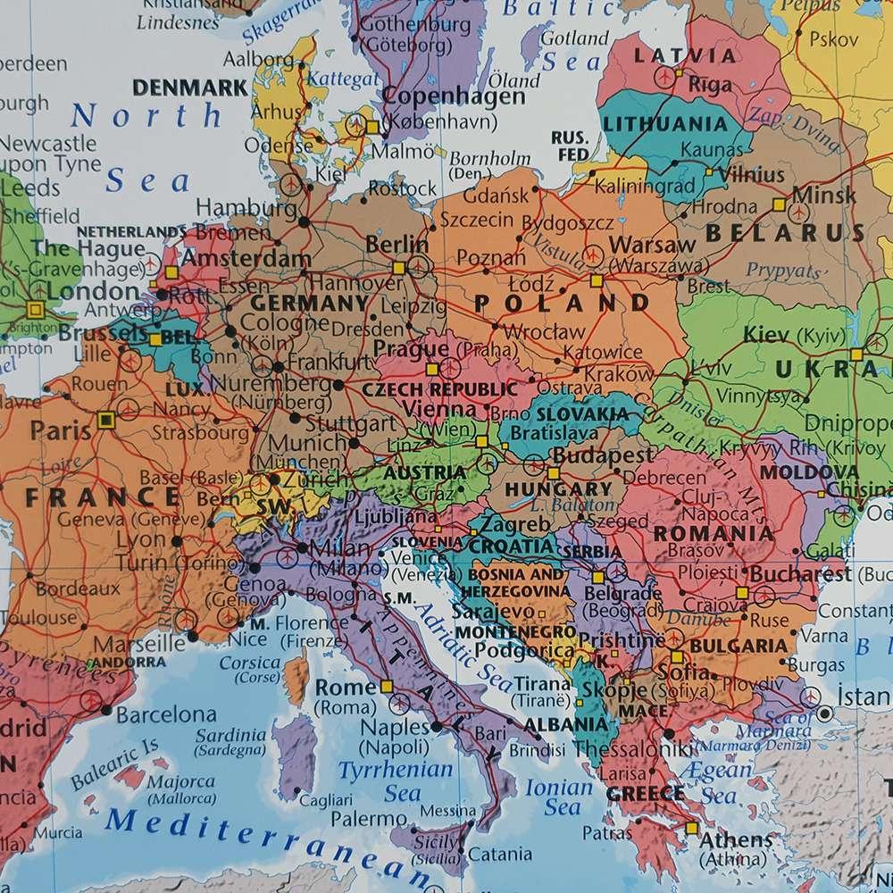 Liten Karta Over Europa For Nalar Kartkungen Kartor For Nalmarkering
