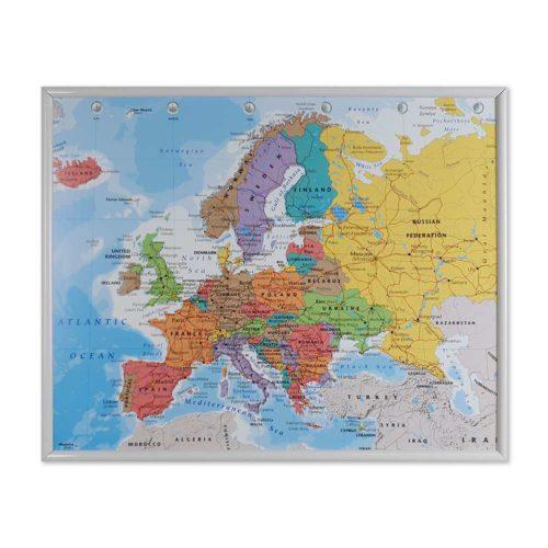 väggkarta-europa-för-nålar-vit-ram