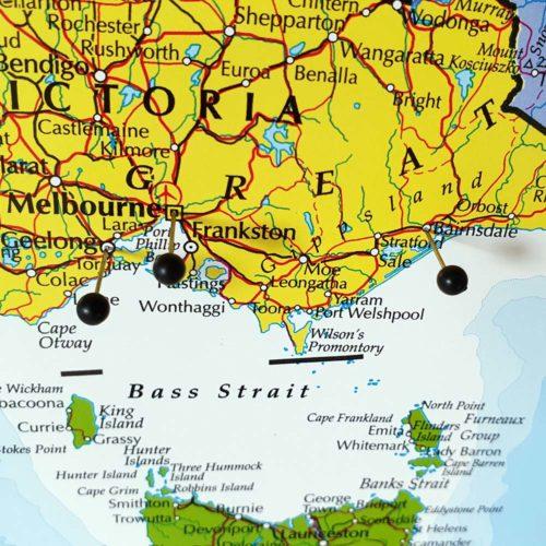 Stor väggkarta över Australien för nålar (3)