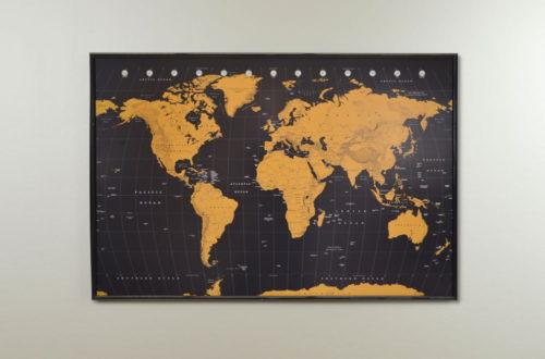 Världskarta för markering med kartnål - kartkungen