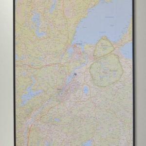 Detaljerad karta över Vänersborg, Trollhättan och Lilla Edet där du kan markera med nålar vart du har varit eller platser du vill besöka.