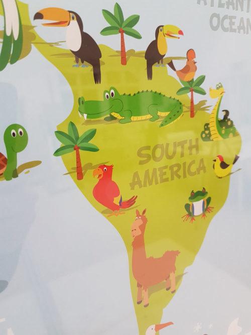 Världskarta för barn - Kartkungen karta för nålmarkering
