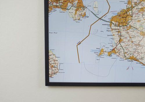 Karta över Skåne för markering med nålar Kartkungen