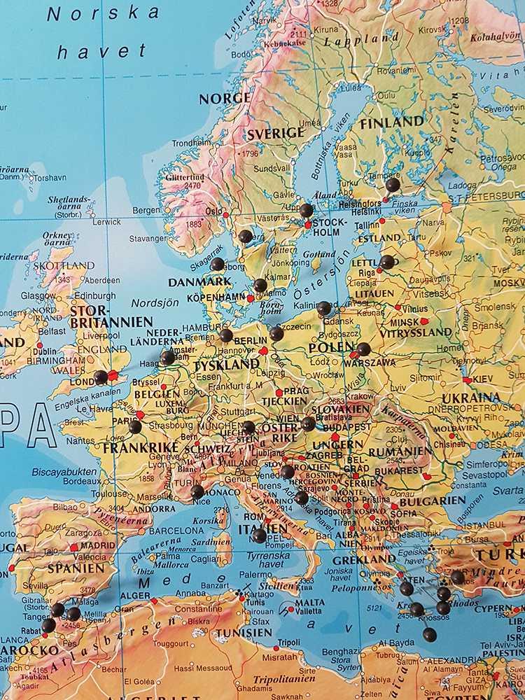 Stor Varldskarta Varlden For Nalar For Markering Med Nalar Kartkungen