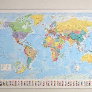 stor världskarta för väggen en billig karta utan ram för nålmarkering