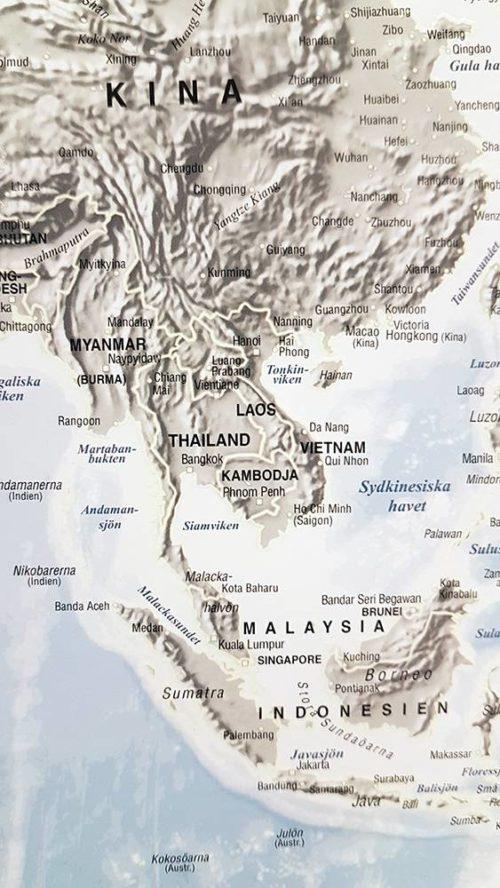 karta-varlden-självlysande-Asien