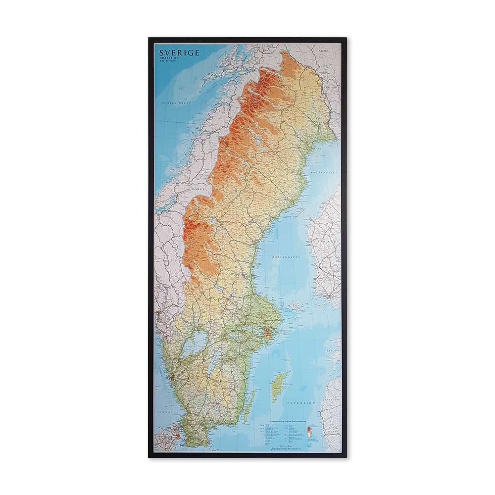 Karta Over Sverige For Nalmarkering Kartkungen Kartor For