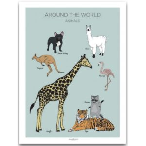 Poster 30x40 Frank & Poppy Animals Mint