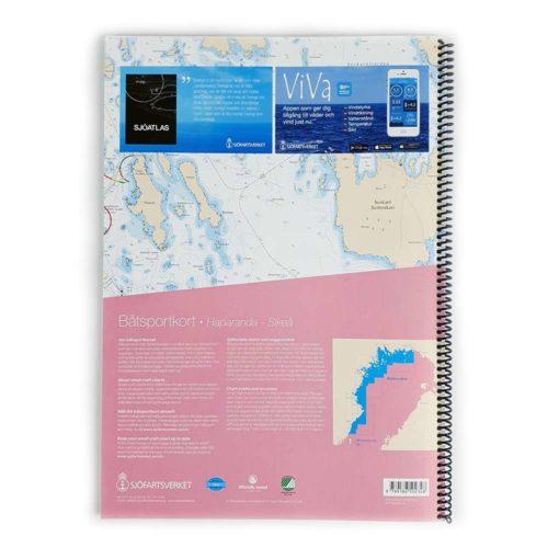 Båtsportkort Sjöfartsverket Bottenviken baksida Haparanda-Sikeå Kartkungen