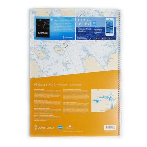 Båtsportkort katalog Mälaren och Hjälmaren Baksida Kartkungen