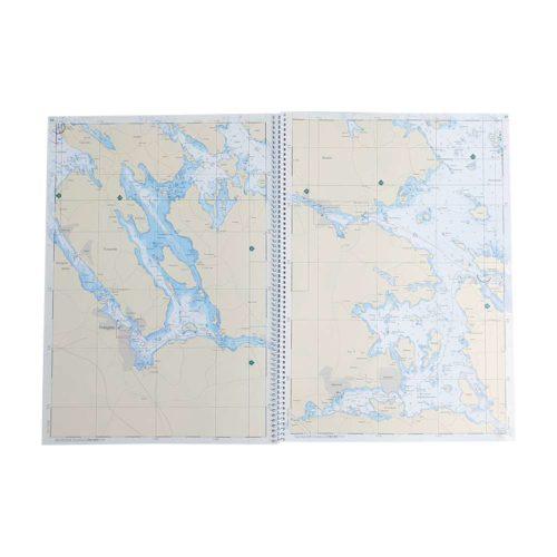 Båtsportkort katalog Mälaren och Hjälmaren mittuppslag Kartkungen
