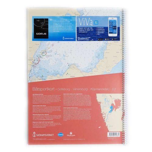 Båtsportkort katalog Trollhätte kanal och Dalslands kanal baksida Kartkungen