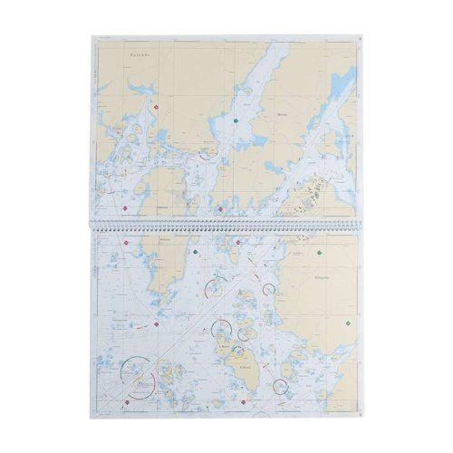 Båtsportkort sjöfartsverket Västkusten Norra mittuppslag Svinesund-Måseskär Kartkungen