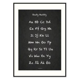 Poster-50x70-Frank-Poppy-ABC-Chalkboard