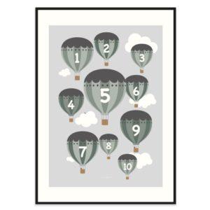 Poster-50x70-Frank-Poppy-Balloons-Gron