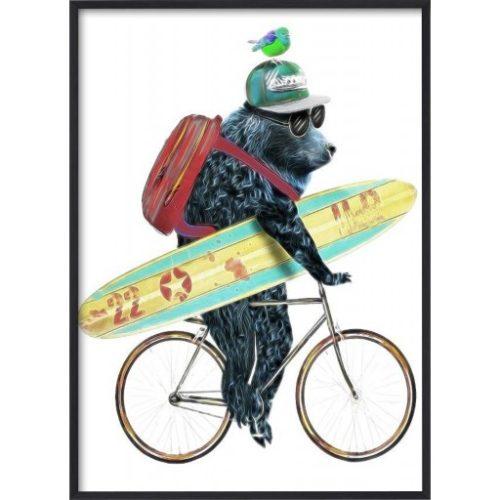 Poster_30x40_Blue_Surfer_Bear