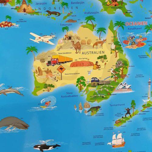 Karta för barn australien