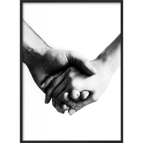 Poster 30x40 B&W Holding hands
