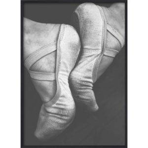 Poster 30x40 B&W Faded Ballet Shoes