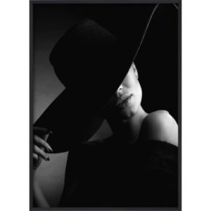 Poster-50x70-BW-Fashion-Hat