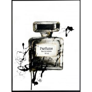 Poster-30x40-BW-Perfume-Bottle