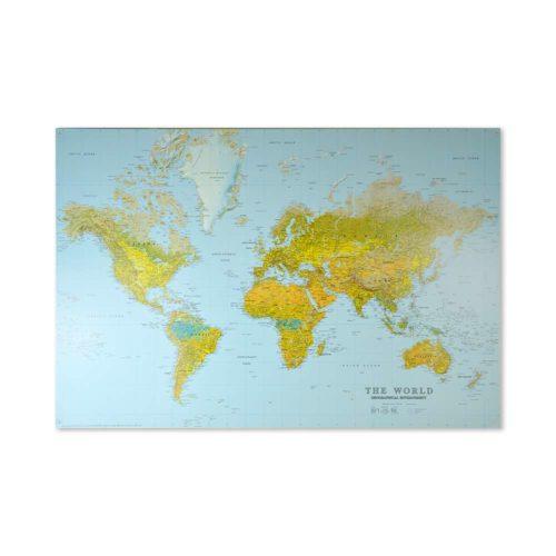 väggkarta över världen för nålmarkering