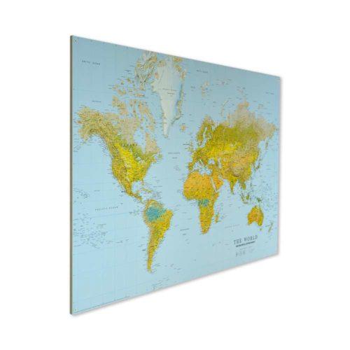 Världskarta the world för markering med nålar utan ram gör det till en billig världskarta. att markera med en nål på kartan vart du har varit Kartkungen