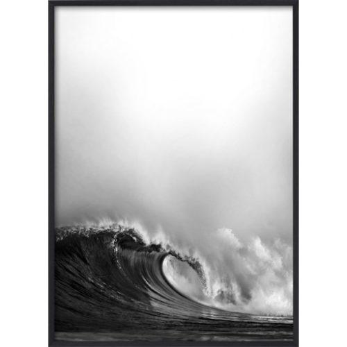 Poster 30x40 B&W Wave